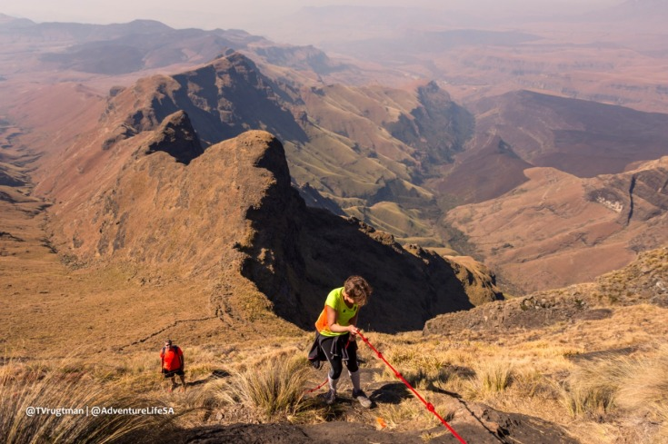 I would not have summited without the help of the ropes and support crew.